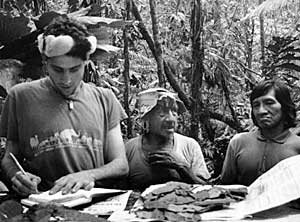 Huaorani Forest Masters and Jonathon - Ethnobotanical Studies, Napo Province, Ecuador, May 1996